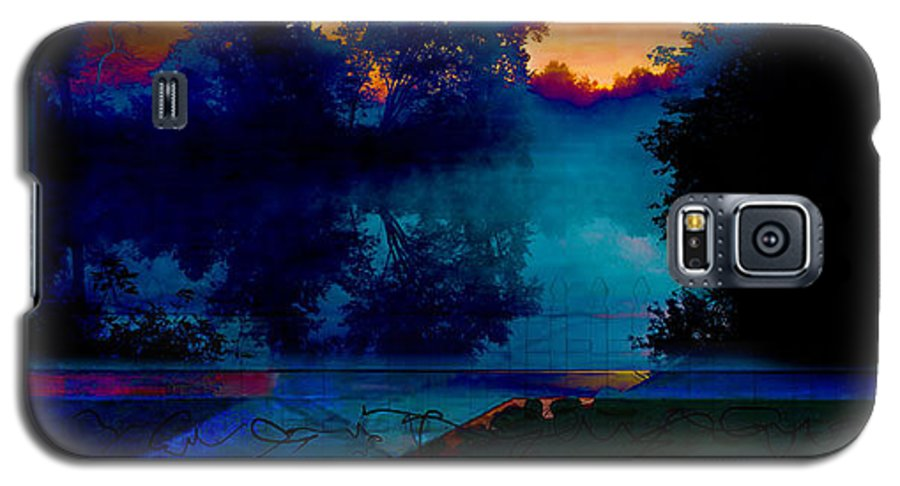 Trees Galaxy S5 Case featuring the digital art Picket Fences by Sven Anderson