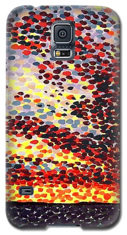 Plum Clouds Galaxy S5 Case featuring the painting Plum Clouds by Alan Hogan