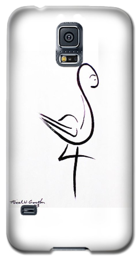 Abstract Galaxy S5 Case featuring the drawing Poise by Micah Guenther
