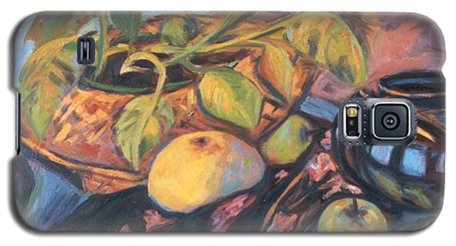 Still Life Galaxy S5 Case featuring the painting Pollys Plant by Kendall Kessler