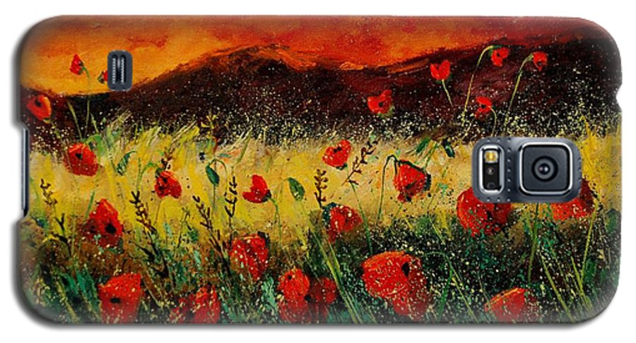Poppies Galaxy S5 Case featuring the painting Poppies 68 by Pol Ledent