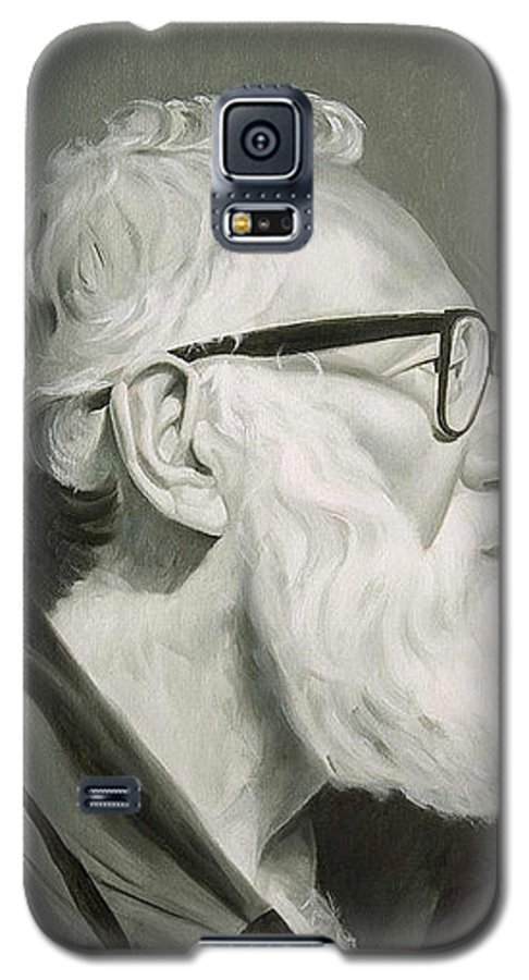 Portrait Galaxy S5 Case featuring the painting Portrait In Grisaille by Gary Hernandez