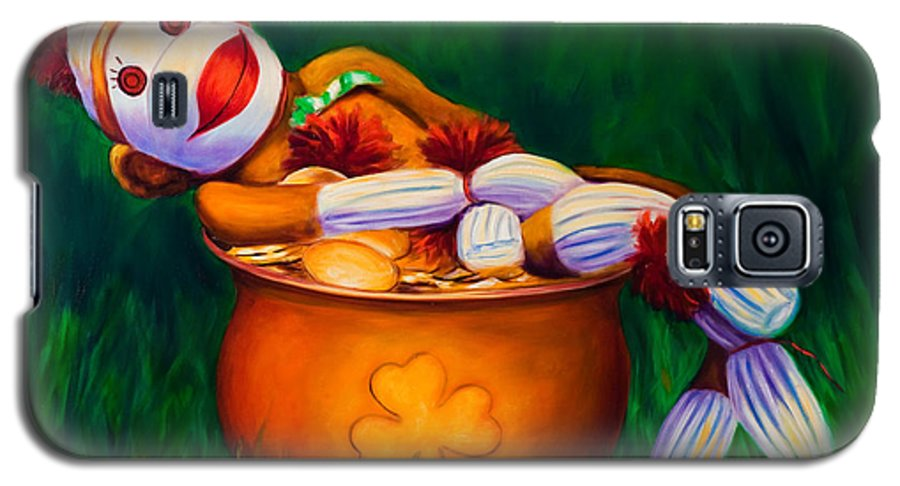 St. Patrick's Day Galaxy S5 Case featuring the painting Pot O Gold by Shannon Grissom