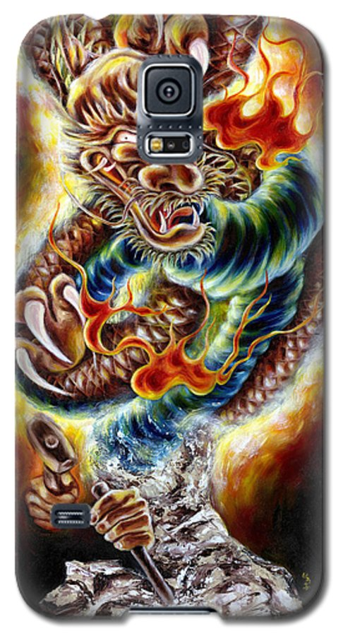 Caving Galaxy S5 Case featuring the painting Power Of Spirit by Hiroko Sakai