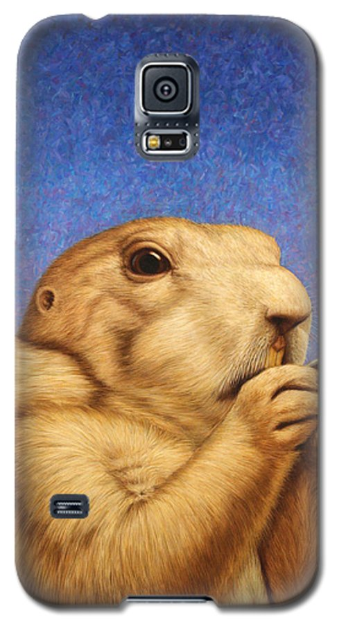 Prairie Dog Galaxy S5 Case featuring the painting Prairie Dog by James W Johnson