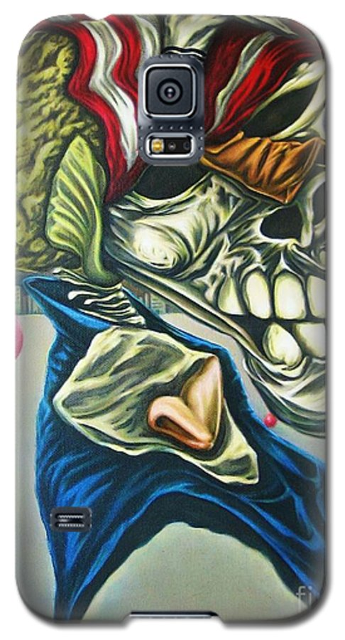 Surrealism Galaxy S5 Case featuring the painting Pseudo-archaic Portrait Of An Imaginary Hometown Hero During A Slow Process Of Decomposition by Mack Galixtar
