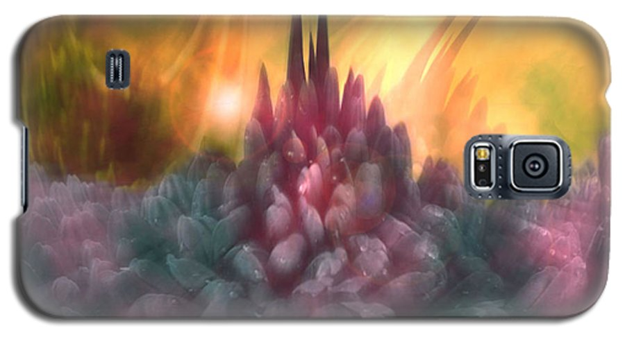 Abstract Galaxy S5 Case featuring the digital art Psychedelic Tendencies  by Linda Sannuti