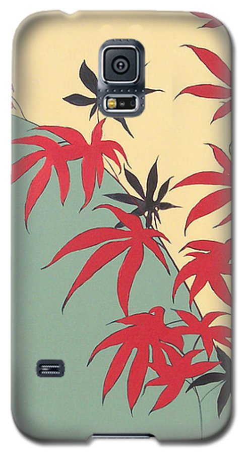 Bamboo Galaxy S5 Case featuring the painting Psycho Wabbits by Philip Fleischer