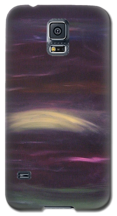 Purple Galaxy S5 Case featuring the painting Purple Night by Lindsay Clark