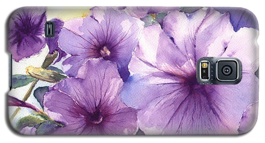 Purple Galaxy S5 Case featuring the painting Purple Profusion by Patricia Henderson