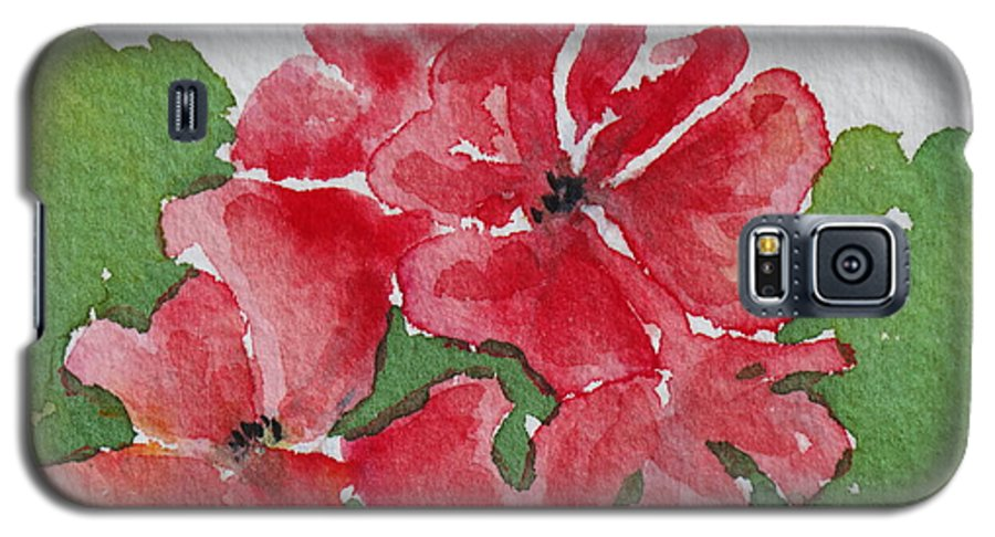 Floral Galaxy S5 Case featuring the painting Pzzzazz by Mary Ellen Mueller Legault