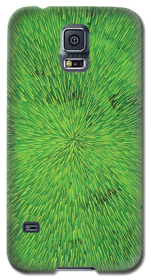 Abstract Galaxy S5 Case featuring the painting Radiation Green by Dean Triolo