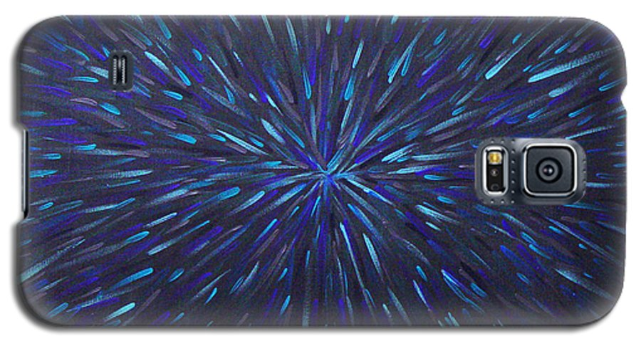 Abstract Galaxy S5 Case featuring the painting Radiation Grey by Dean Triolo