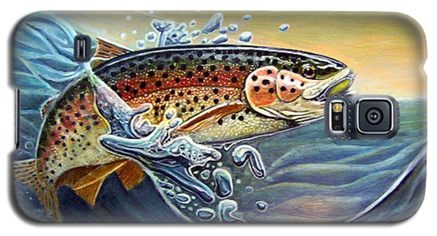 Rick Huotari Galaxy S5 Case featuring the painting Rainbow by Rick Huotari