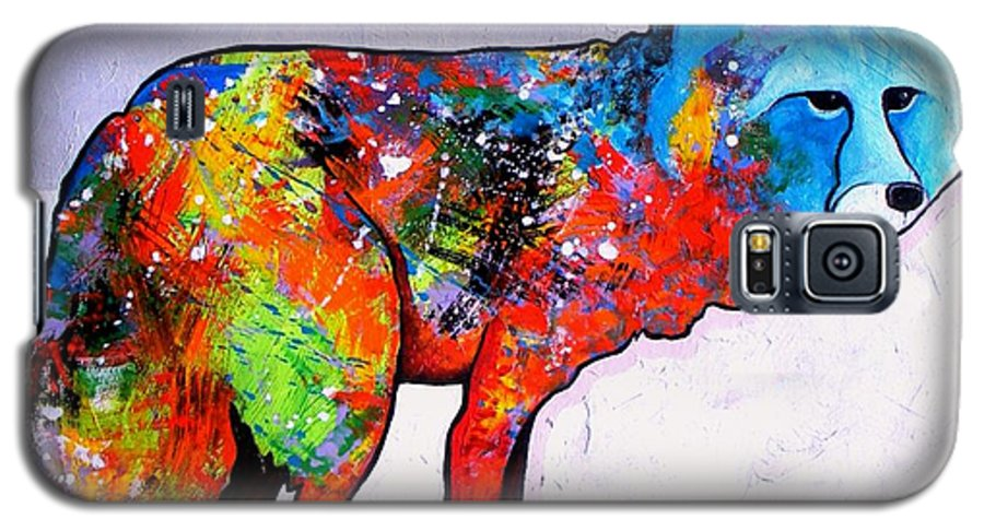 Animal Galaxy S5 Case featuring the painting Rainbow Warrior - Fox by Joe Triano