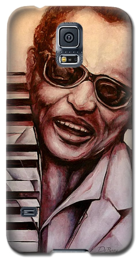 Original Fine Art By Lloyd Deberry Galaxy S5 Case featuring the painting Ray The Print by Lloyd DeBerry