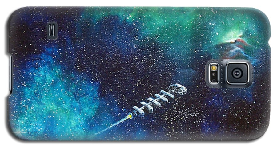 Spacescape Galaxy S5 Case featuring the painting Reaching Out by Murphy Elliott