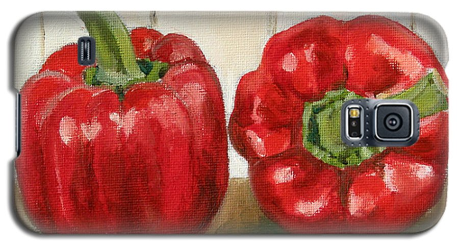 Food Galaxy S5 Case featuring the painting Red Pepper by Sarah Lynch