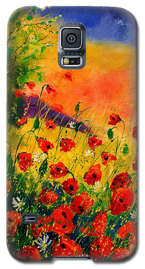Poppies Galaxy S5 Case featuring the painting Red Poppies 45 by Pol Ledent