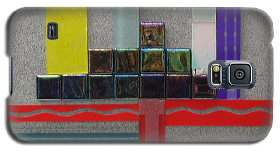 Assemblage Galaxy S5 Case featuring the relief Red River City by Elaine Booth-Kallweit