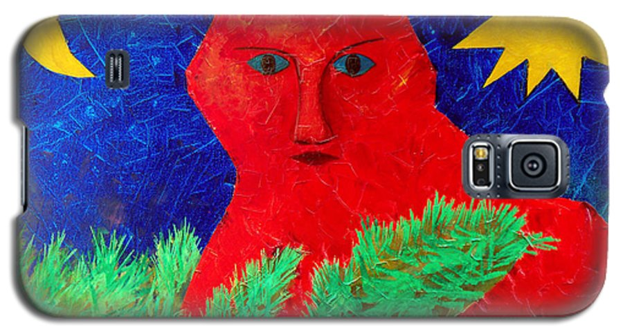 Fantasy Galaxy S5 Case featuring the painting Red by Sergey Bezhinets