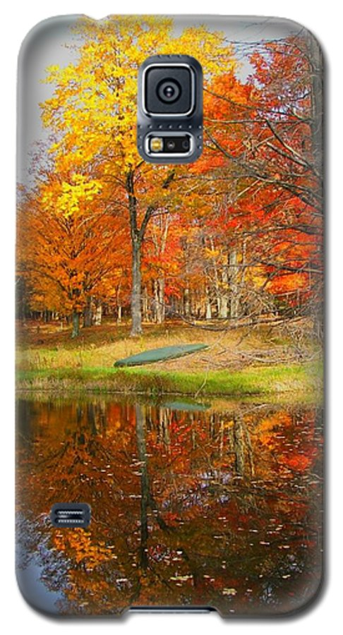 Fall Galaxy S5 Case featuring the photograph Reflections Of Autumn by Judy Waller