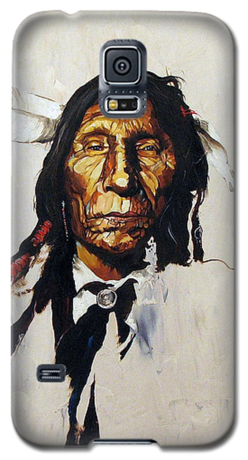 Southwest Art Galaxy S5 Case featuring the painting Remember by J W Baker