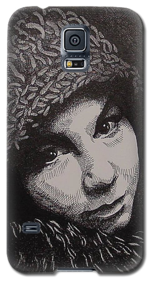 Portraiture Galaxy S5 Case featuring the drawing Rena by Denis Gloudeman