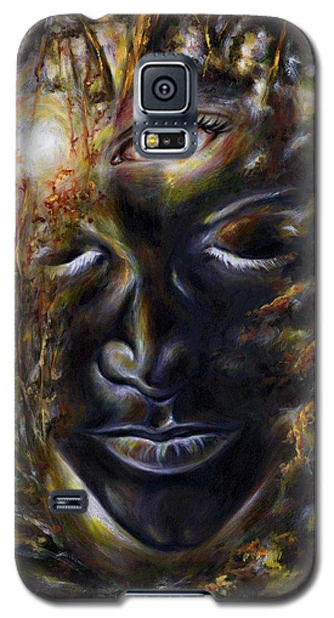 Eye Galaxy S5 Case featuring the painting Revelation by Hiroko Sakai