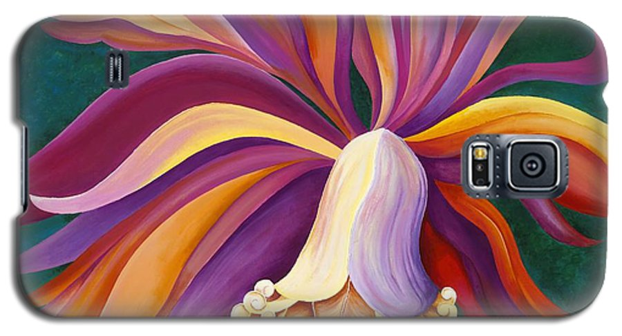 Orchid Galaxy S5 Case featuring the painting Ribbon Orchid by Carol Sabo