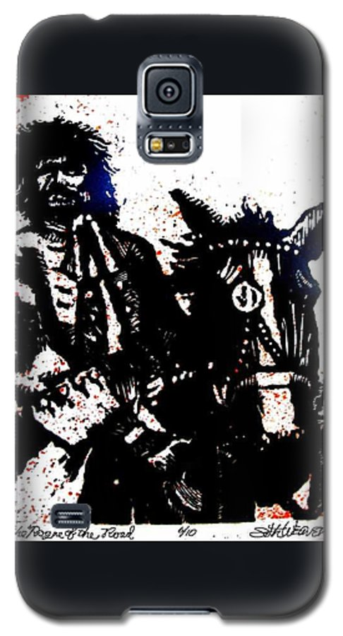 English Highwayman Galaxy S5 Case featuring the mixed media Rogue Of The Road by Seth Weaver
