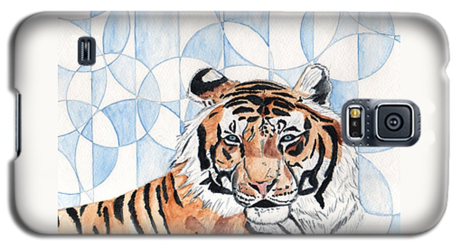 Tiger Galaxy S5 Case featuring the painting Royal Mysticism by Crystal Hubbard