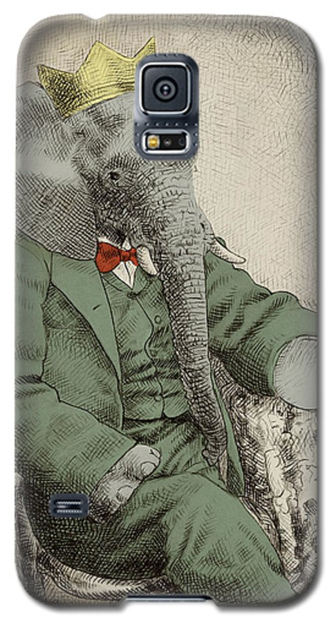 Elephant Galaxy S5 Case featuring the drawing Royal Portrait by Eric Fan