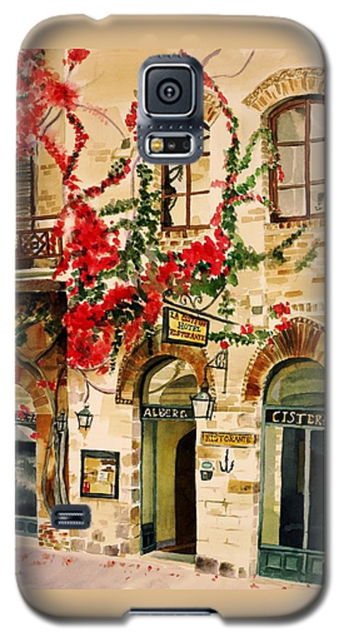 Award-winning Galaxy S5 Case featuring the painting San Gimignano by Judy Swerlick