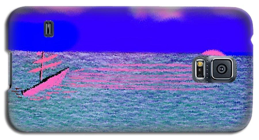 Early Evening Galaxy S5 Case featuring the digital art Sea.sun by Dr Loifer Vladimir