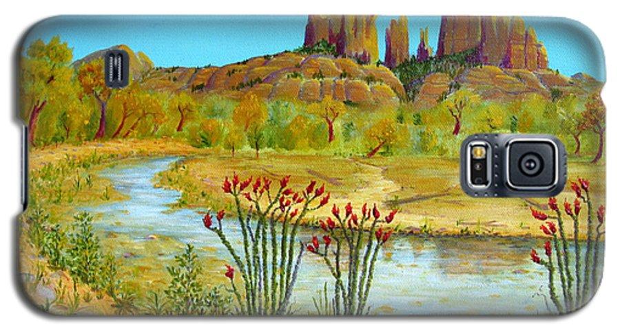 Sedona Galaxy S5 Case featuring the painting Sedona Arizona by Jerome Stumphauzer