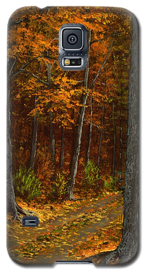 Landscape Galaxy S5 Case featuring the painting Seldom Used by Frank Wilson