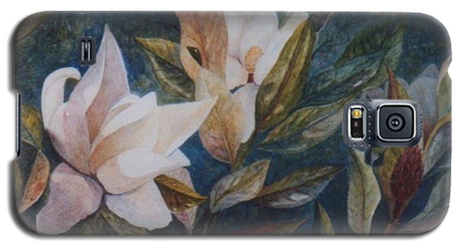 Magnolias; Humming Bird Galaxy S5 Case featuring the painting Serenity by Ben Kiger