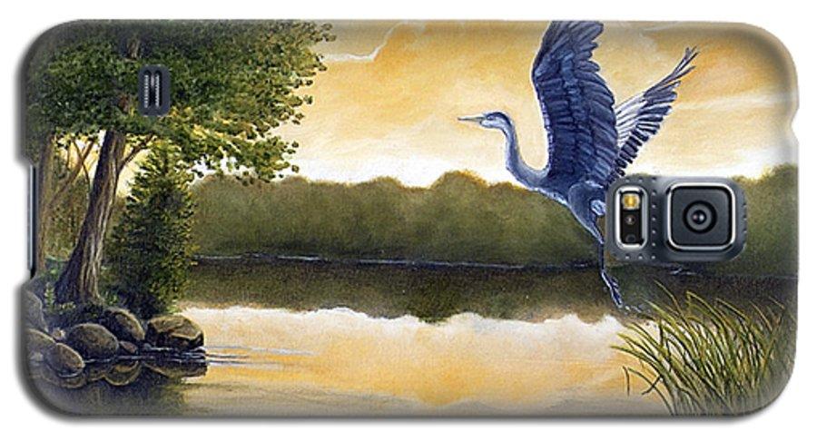 Rick Huotari Galaxy S5 Case featuring the painting Serenity by Rick Huotari