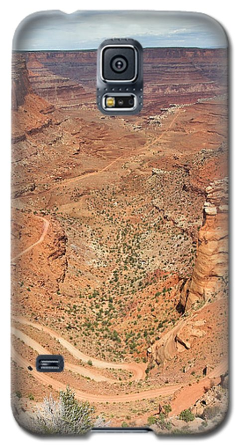 3scape Galaxy S5 Case featuring the photograph Shafer Trail by Adam Romanowicz
