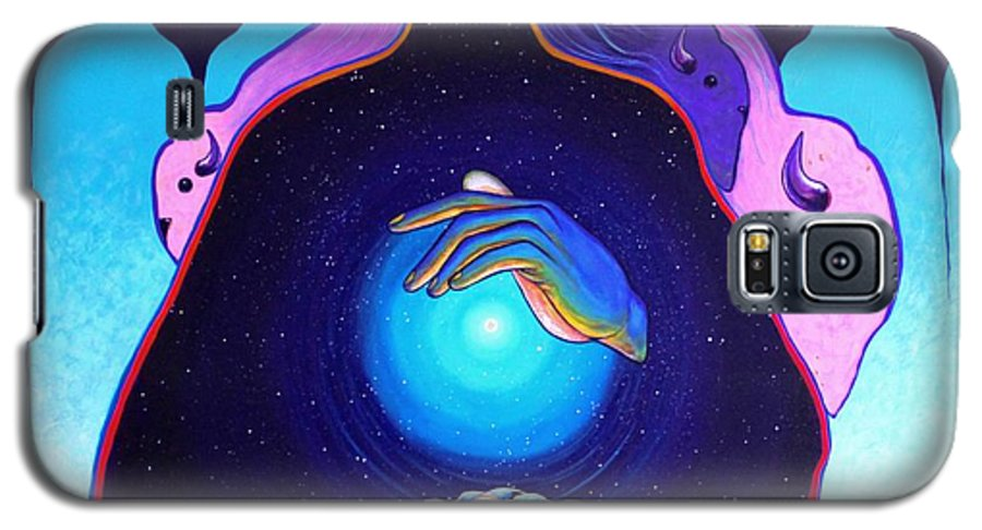 Spiritual Galaxy S5 Case featuring the painting She Carries The Spirit by Joe Triano