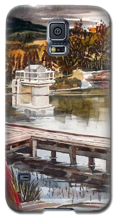 Shepherd Mountain Lake In Twilight Galaxy S5 Case featuring the painting Shepherd Mountain Lake In Twilight by Kip DeVore