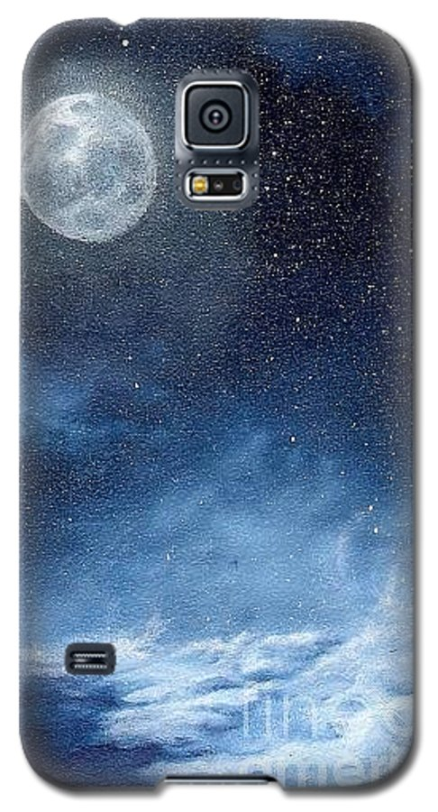 Cosmos Galaxy S5 Case featuring the painting Shimmer by Murphy Elliott