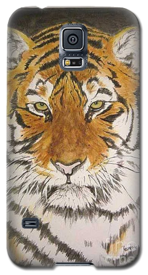 Siberian Tiger Galaxy S5 Case featuring the painting Siberian Tiger by Regan J Smith