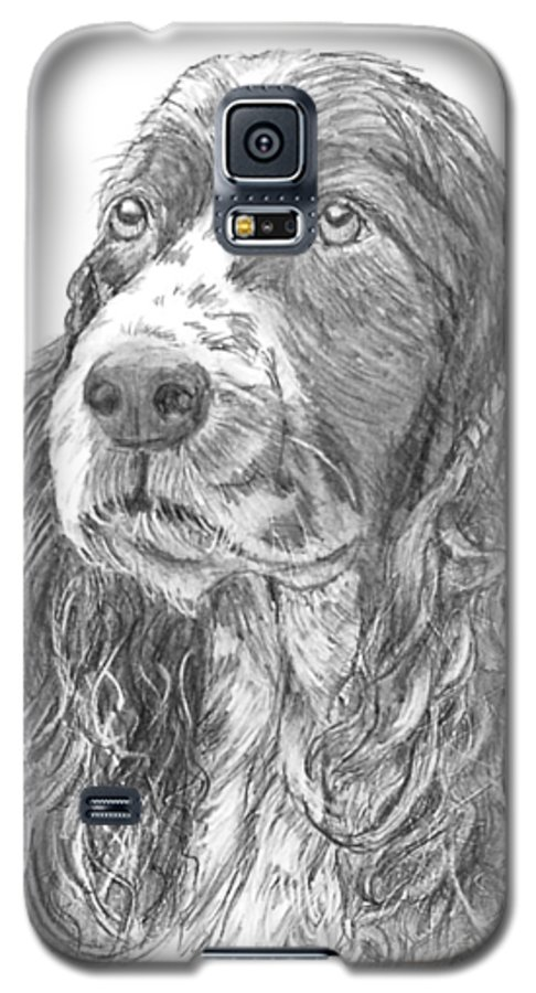 Dog Galaxy S5 Case featuring the drawing Sibley by Quwatha Valentine