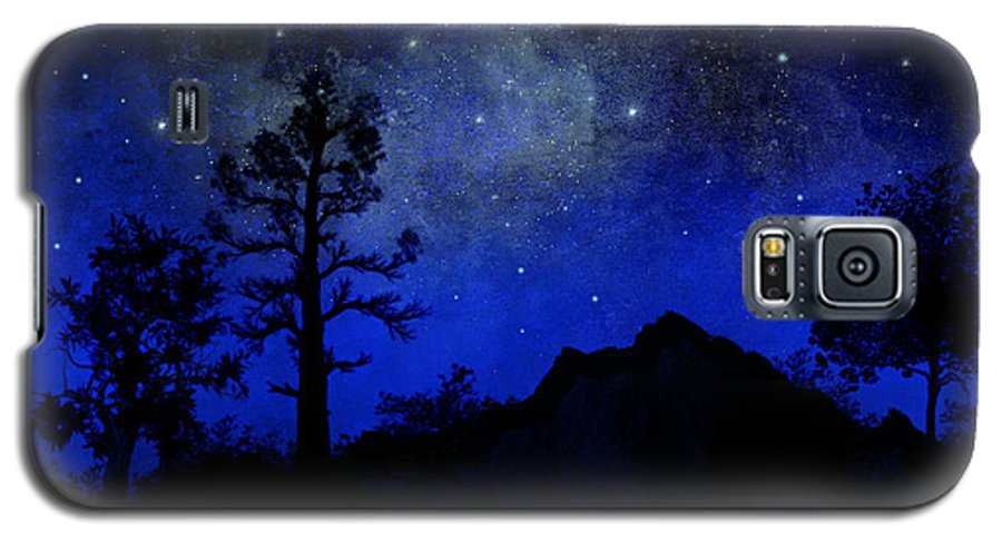 Sierra Silhouette Galaxy S5 Case featuring the painting Sierra Silhouette Wall Mural by Frank Wilson