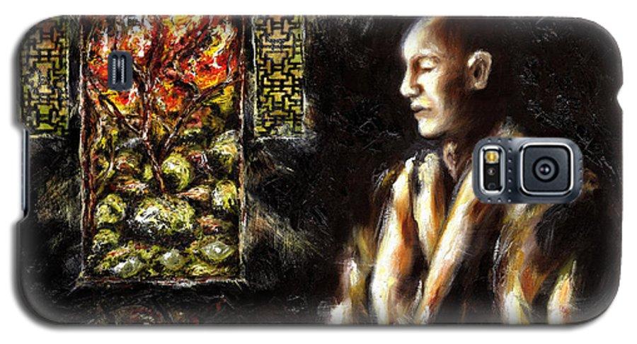 Zen Galaxy S5 Case featuring the painting Silence by Hiroko Sakai