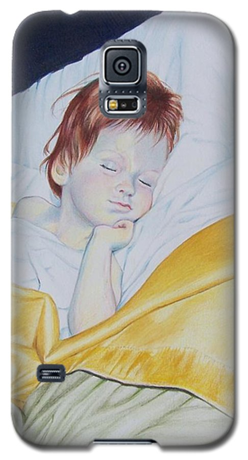 Baby Galaxy S5 Case featuring the mixed media Sleeping Beauty by Constance Drescher