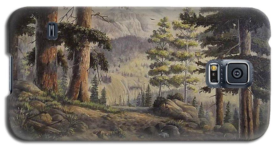 Slumgullian Mountain Colo. Galaxy S5 Case featuring the painting Slumgullian Pass by Wanda Dansereau