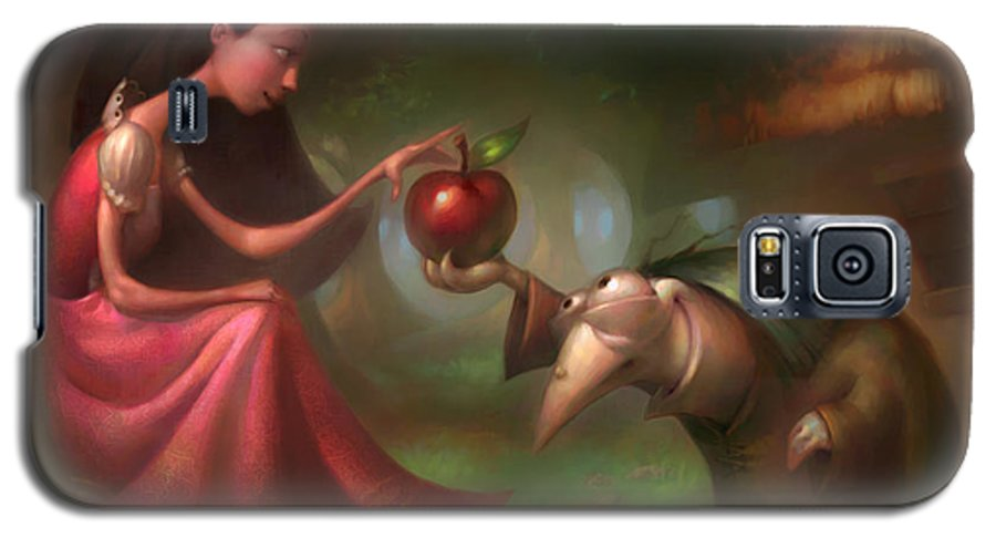 Snow White Galaxy S5 Case featuring the painting Snow White by Adam Ford